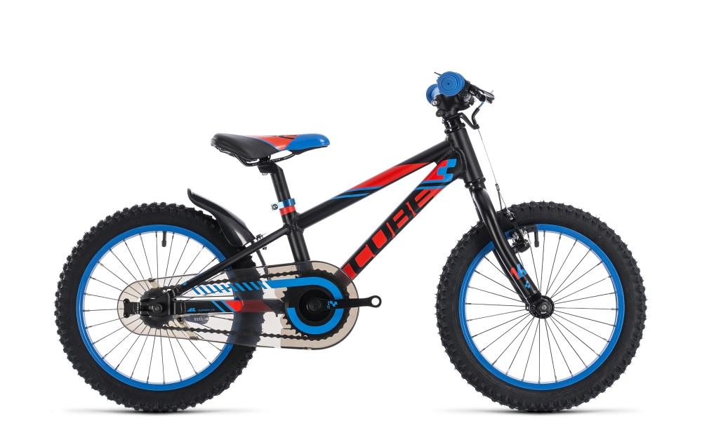 Cube Kid 160 black´n´flashred´n´blue 2018 Größe: 16´´ - Bergmann Bike & Outdoor