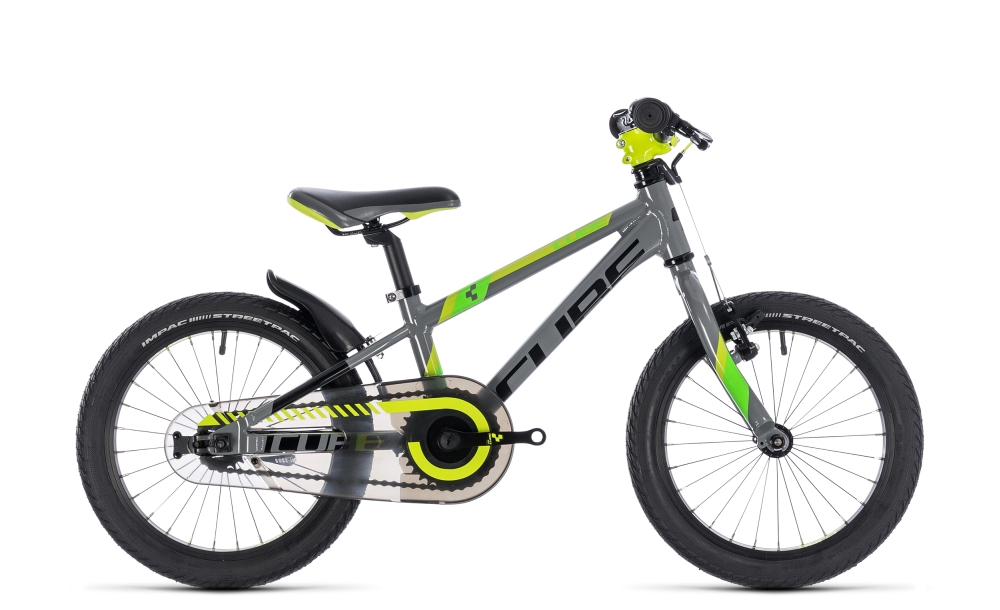 Cube Kid 160 grey´n´green´n´kiwi 2018 Größe: 16´´ - Bergmann Bike & Outdoor