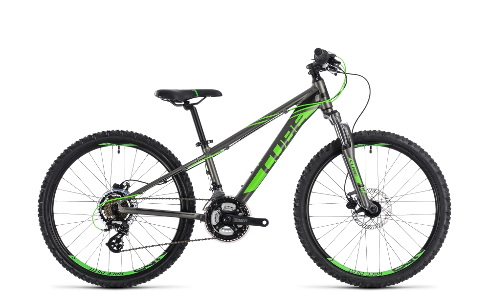 Cube Kid 240 Disc grey´n´flashgreen 2018 Größe: 24´´ - Cube Kid 240 Disc grey´n´flashgreen 2018 Größe: 24´´