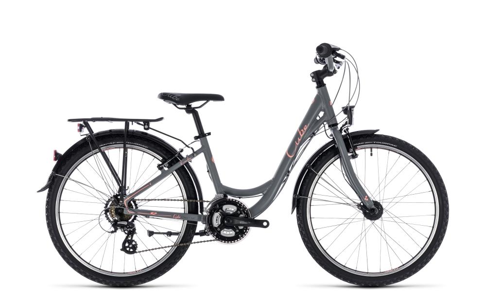 Cube Kid 240 Street girl grey´n´coral 2018 Größe: 24´´ - Bikesport Scheid - Ihr Fahrradfachgeschäft im Saarland