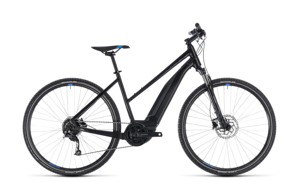 Cube Cross Hybrid ONE 400 black´n´blue 2018 Größe: Trapeze 46 cm - Bikesport Scheid - Ihr Fahrradfachgeschäft im Saarland