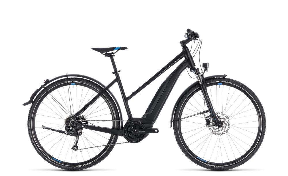 Cube Cross Hybrid ONE Allroad 400 black´n´blue 2018 Größe: Trapeze 46 cm - Bergmann Bike & Outdoor