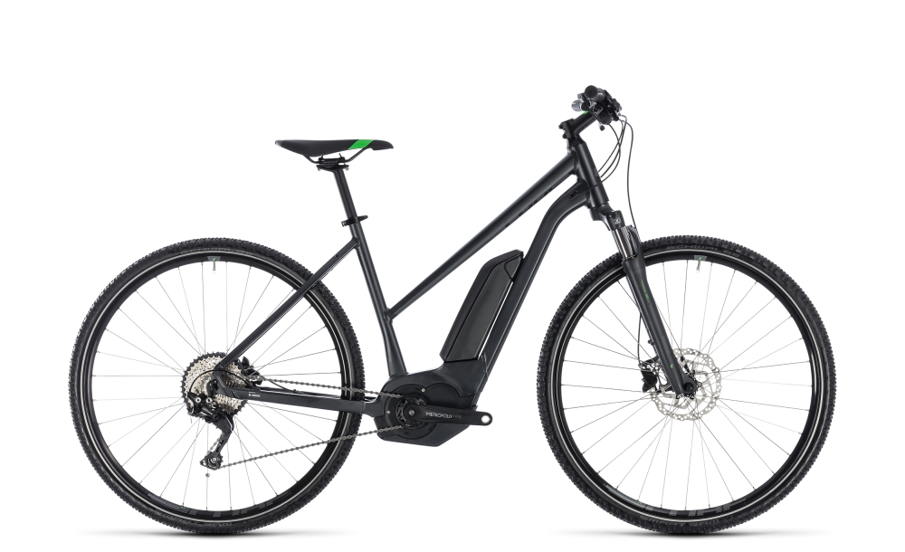 Cube Cross Hybrid Pro 400 grey´n´flashgreen 2018 Größe: Trapeze 50 cm - Bergmann Bike & Outdoor
