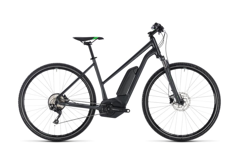 Cube Cross Hybrid Pro 500 grey´n´flashgreen 2018 Größe: Trapeze 46 cm - Bikesport Scheid - Ihr Fahrradfachgeschäft im Saarland