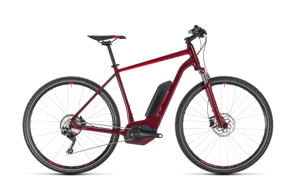 Cube Cross Hybrid Pro 400 darkred´n´red 2018 Größe: 58 cm - Bergmann Bike & Outdoor