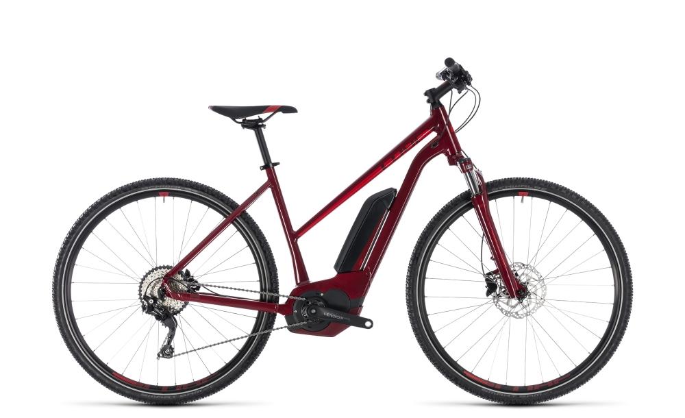 Cube Cross Hybrid Pro 400 darkred´n´red 2018 Größe: Trapeze 46 cm - Bergmann Bike & Outdoor