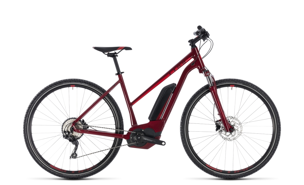 Cube Cross Hybrid Pro 500 darkred´n´red 2018 Größe: Trapeze 46 cm - Bergmann Bike & Outdoor
