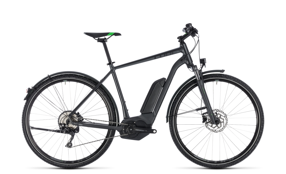 Cube Cross Hybrid Pro Allroad 500 grey´n´flashgreen 2018 Größe: 50 cm - Bergmann Bike & Outdoor