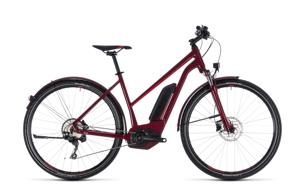 Cube Cross Hybrid Pro Allroad 500 darkred´n´red 2018 Größe: Trapeze 46 cm - Bergmann Bike & Outdoor