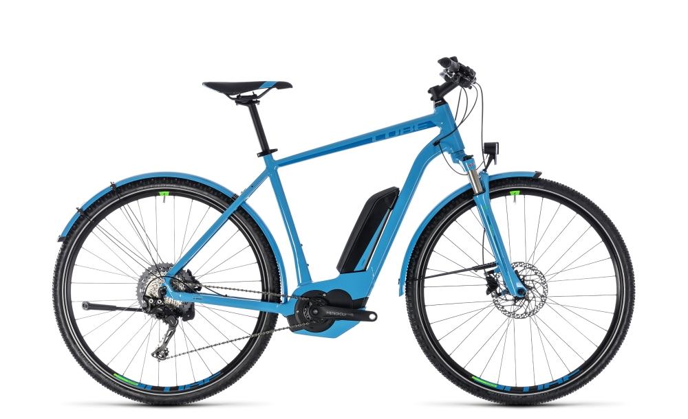 Cube Cross Hybrid Race Allroad 500 blue´n´green 2018 Größe: 50 cm - Bikesport Scheid - Ihr Fahrradfachgeschäft im Saarland