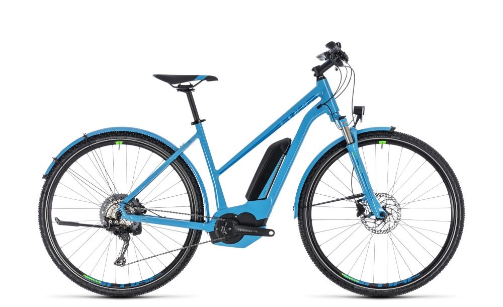 Cube Cross Hybrid Race Allroad 500 blue´n´green 2018 Größe: Trapeze 46 cm - Bikesport Scheid - Ihr Fahrradfachgeschäft im Saarland