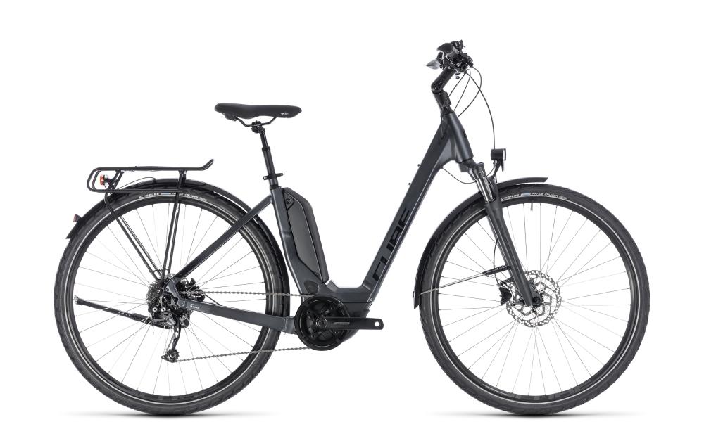 Cube Touring Hybrid ONE 400 iridium´n´black 2018 Größe: Easy Entry 46 cm - Bikesport Scheid - Ihr Fahrradfachgeschäft im Saarland