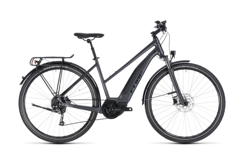 Cube Touring Hybrid ONE 400 iridium´n´black 2018 Größe: Trapeze 46 cm - Bikesport Scheid - Ihr Fahrradfachgeschäft im Saarland