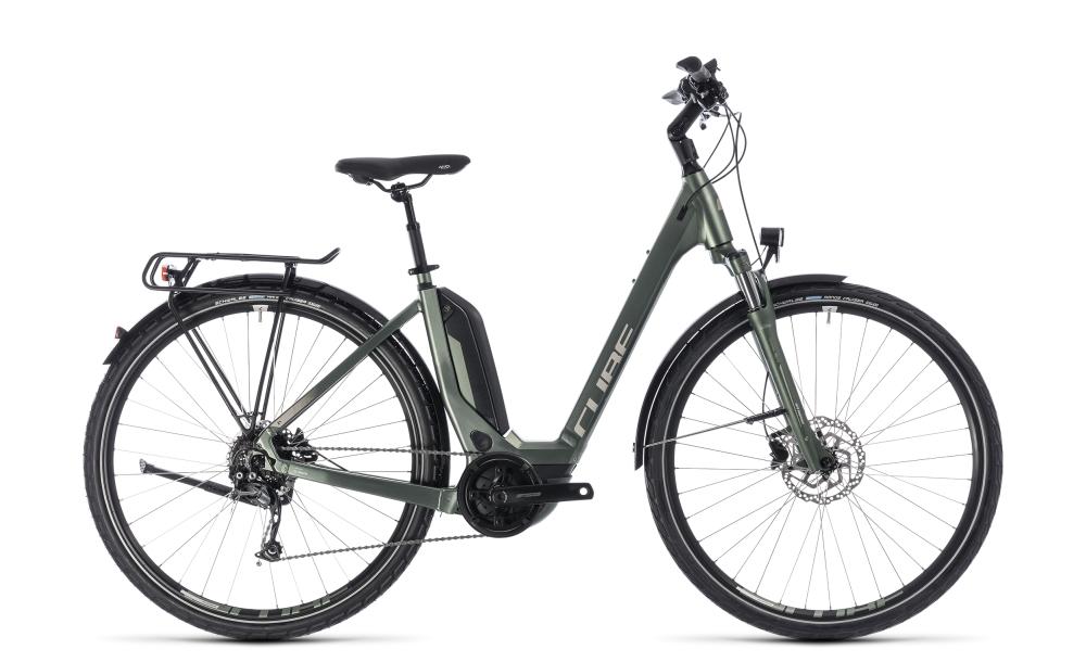 Cube Touring Hybrid ONE 400 frostgreen´n´silver 2018 Größe: Easy Entry 50 cm - Bikesport Scheid - Ihr Fahrradfachgeschäft im Saarland