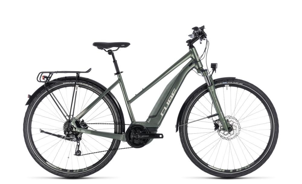 Cube Touring Hybrid ONE 400 frostgreen´n´silver 2018 Größe: Trapeze 46 cm - Bikesport Scheid - Ihr Fahrradfachgeschäft im Saarland