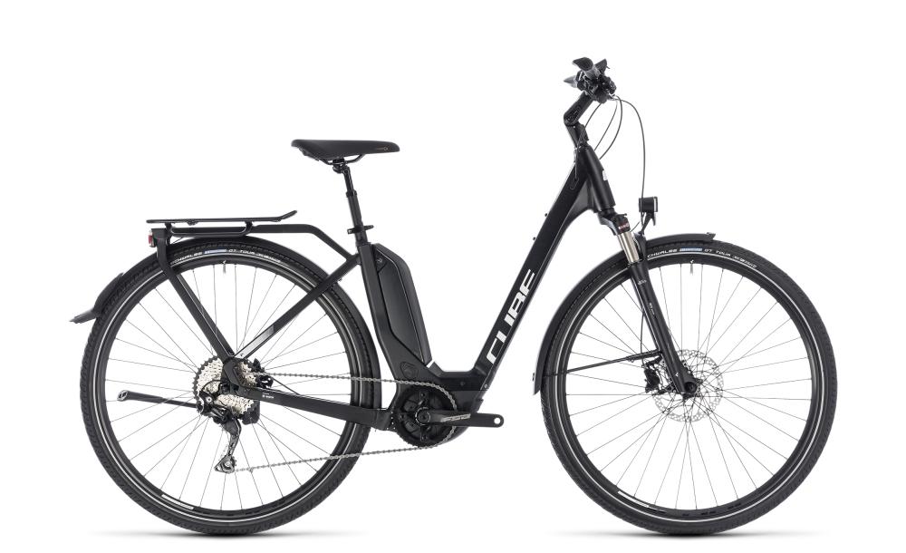 Cube Touring Hybrid Pro 400 black´n´white 2018 Größe: Easy Entry 46 cm - Bikesport Scheid - Ihr Fahrradfachgeschäft im Saarland