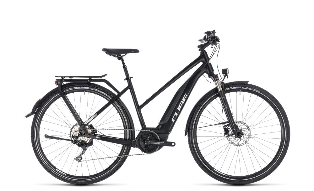 Cube Touring Hybrid Pro 400 black´n´white 2018 Größe: Trapeze 46 cm - Bikesport Scheid - Ihr Fahrradfachgeschäft im Saarland