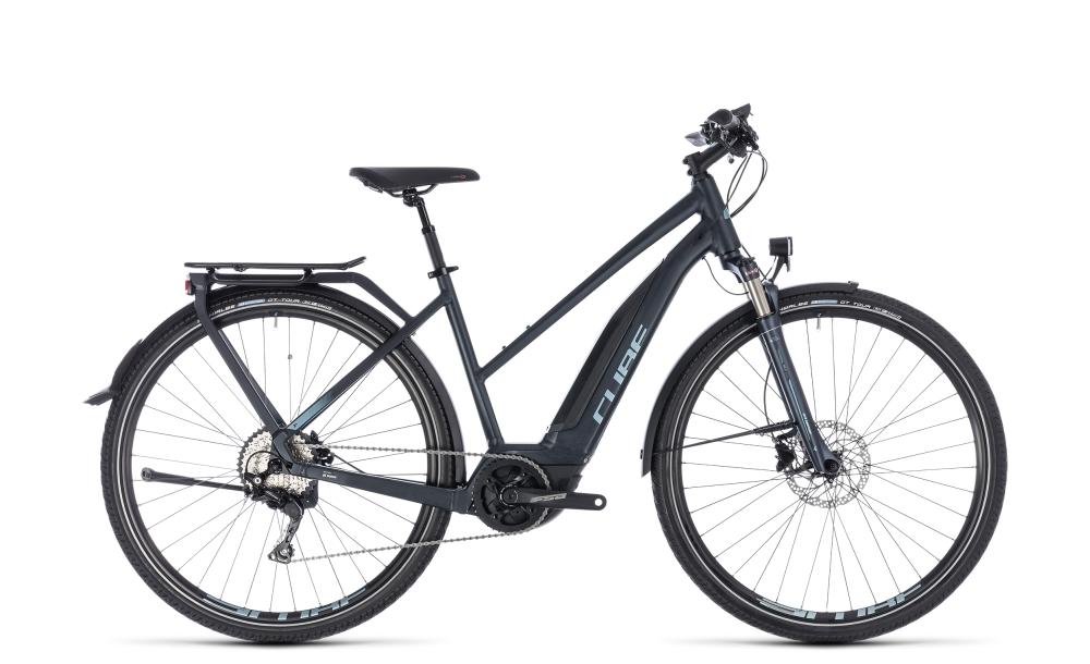 Cube Touring Hybrid Pro 400 darknavy´n´blue 2018 Größe: Trapeze 46 cm - Bikesport Scheid - Ihr Fahrradfachgeschäft im Saarland