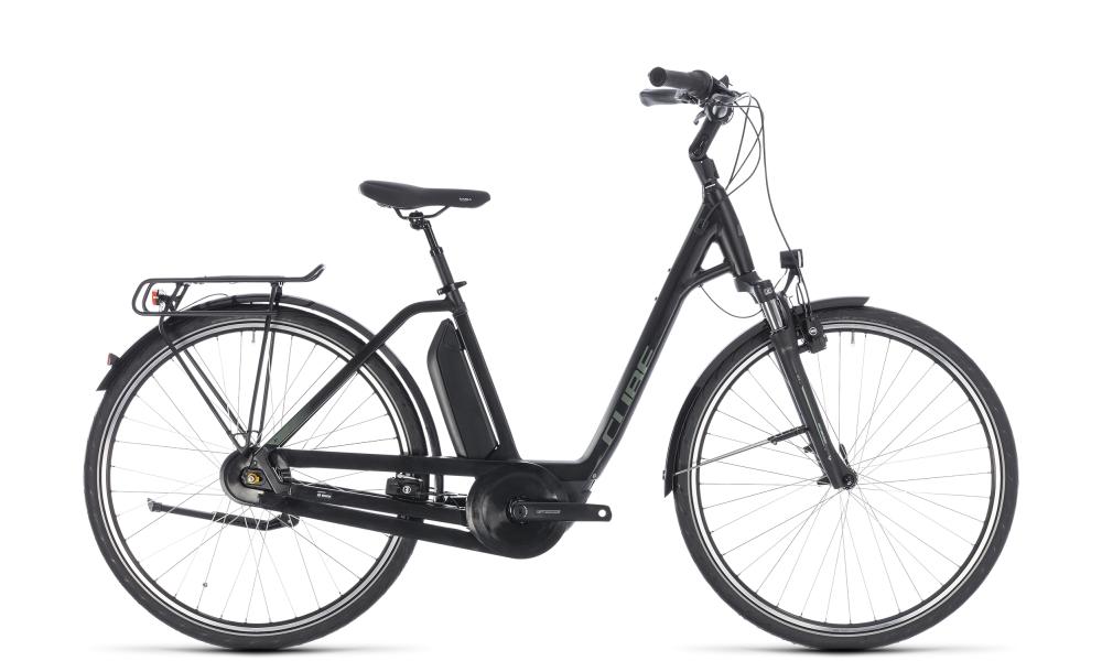 Cube Town Hybrid ONE 400 black´n´frostgreen 2018 Größe: Easy Entry 42 cm - Bikesport Scheid - Ihr Fahrradfachgeschäft im Saarland