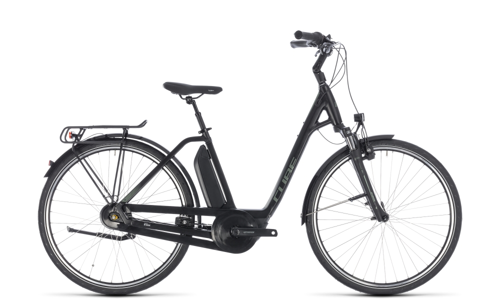 Cube Town Hybrid ONE 500 black´n´frostgreen 2018 Größe: Easy Entry 42 cm - Bergmann Bike & Outdoor