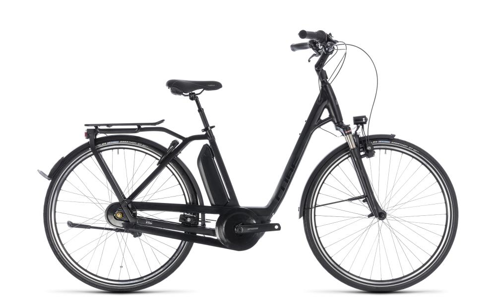 Cube Town Hybrid Pro 500 black´n´grey 2018 Größe: Easy Entry 42 cm - Bikesport Scheid - Ihr Fahrradfachgeschäft im Saarland