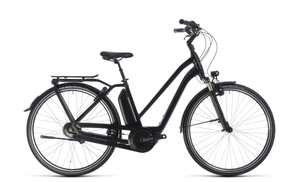 Cube Town Hybrid Pro 500 black´n´grey 2018 Größe: Trapeze 46 cm - Bikesport Scheid - Ihr Fahrradfachgeschäft im Saarland