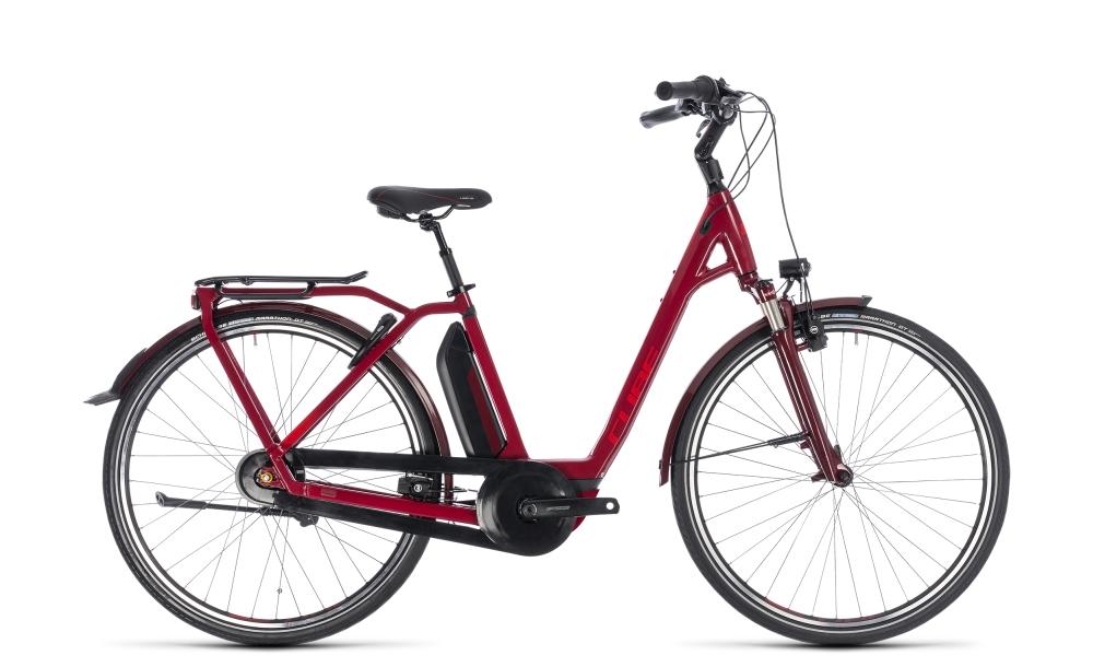 Cube Town Hybrid Pro 400 darkred´n´red 2018 Größe: Easy Entry 42 cm - Bikesport Scheid - Ihr Fahrradfachgeschäft im Saarland
