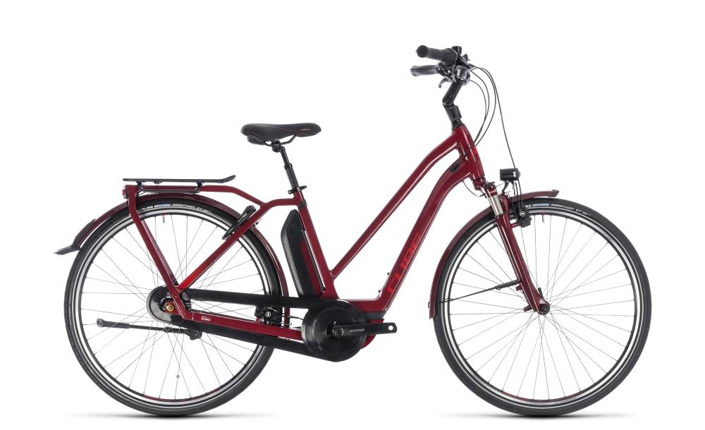 Cube Town Hybrid Pro 400 darkred´n´red 2018 Größe: Trapeze 46 cm - Bikesport Scheid - Ihr Fahrradfachgeschäft im Saarland