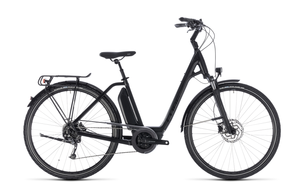Cube Town Hybrid Sport 400 black edition 2018 Größe: Easy Entry 42 cm - Bergmann Bike & Outdoor