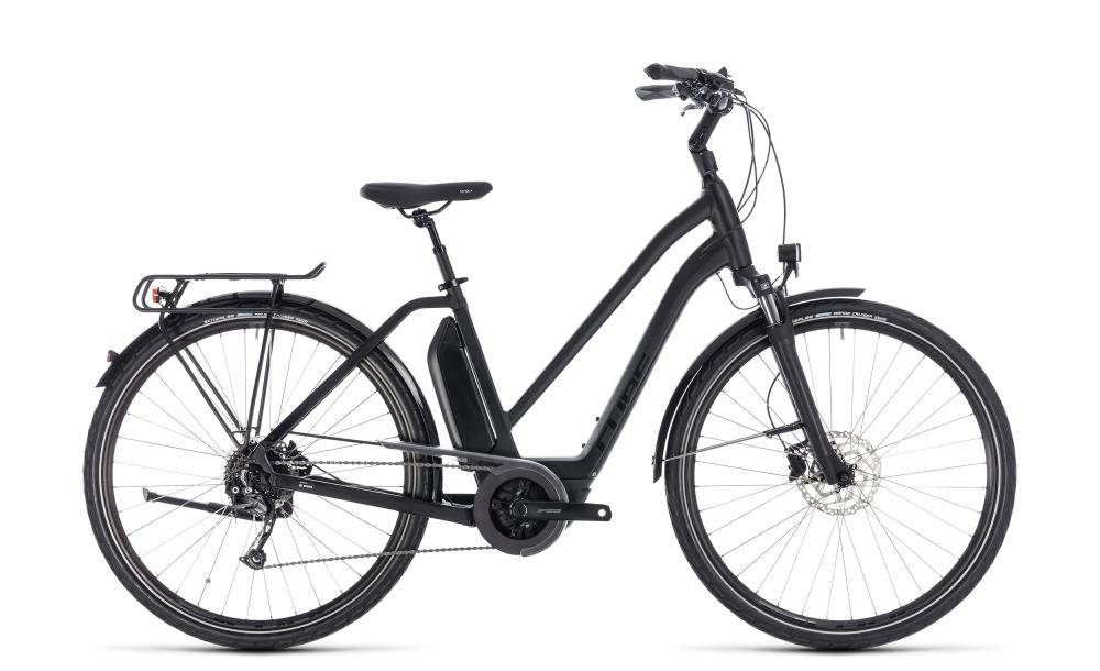 Cube Town Hybrid Sport 400 black edition 2018 Größe: Trapeze 46 cm - Bikesport Scheid - Ihr Fahrradfachgeschäft im Saarland