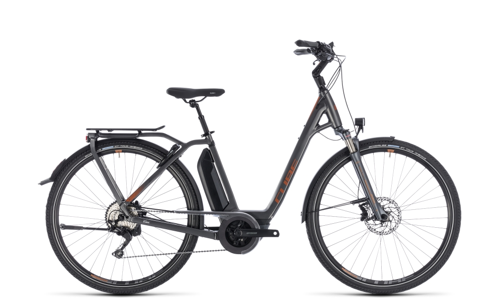Cube Town Hybrid Sport Pro 400 grey´n´copper 2018 Größe: Easy Entry 42 cm - Bergmann Bike & Outdoor