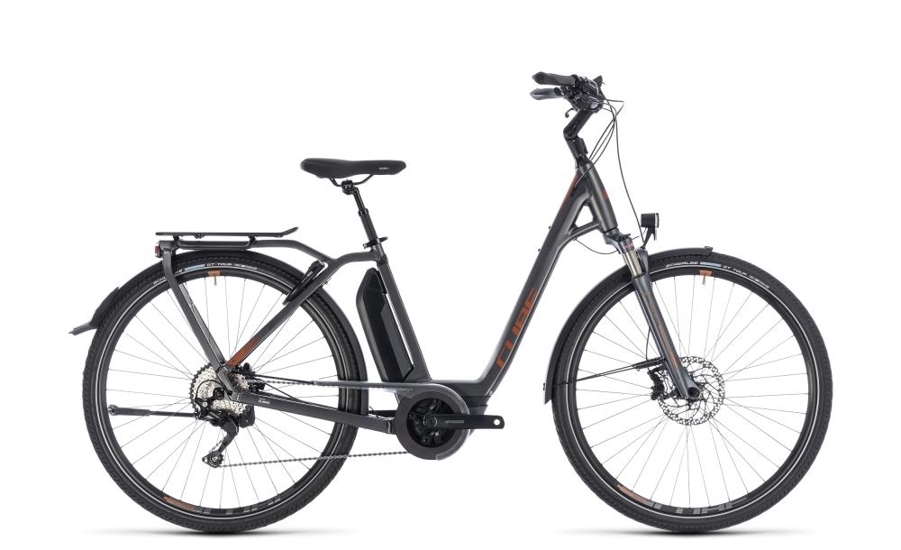Cube Town Hybrid Sport Pro 500 grey´n´copper 2018 Größe: Easy Entry 42 cm - Bikesport Scheid - Ihr Fahrradfachgeschäft im Saarland