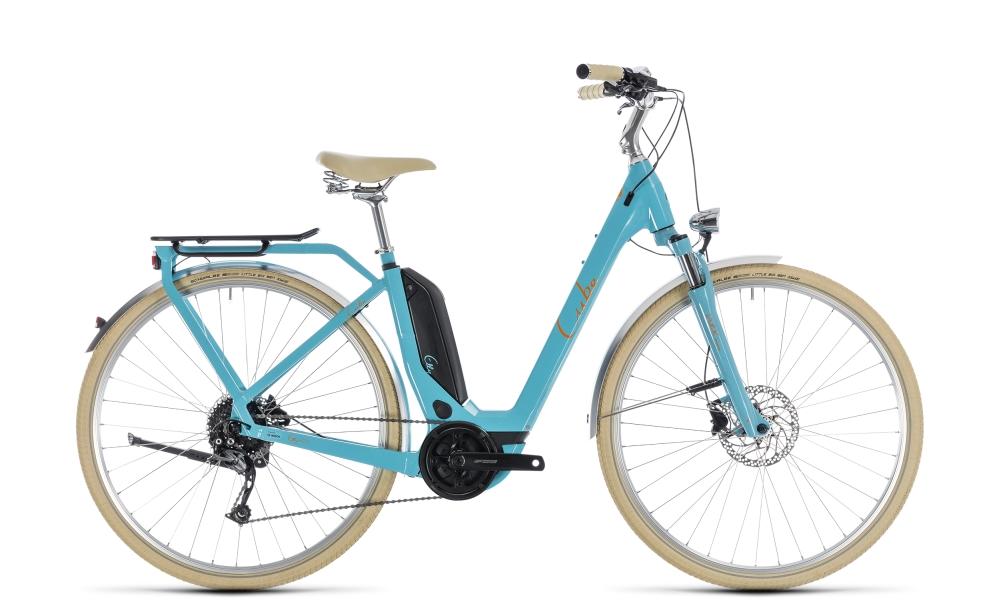 Cube Elly Ride Hybrid 400 aqua´n´orange 2018 Größe: Easy Entry 46 cm - Bikesport Scheid - Ihr Fahrradfachgeschäft im Saarland
