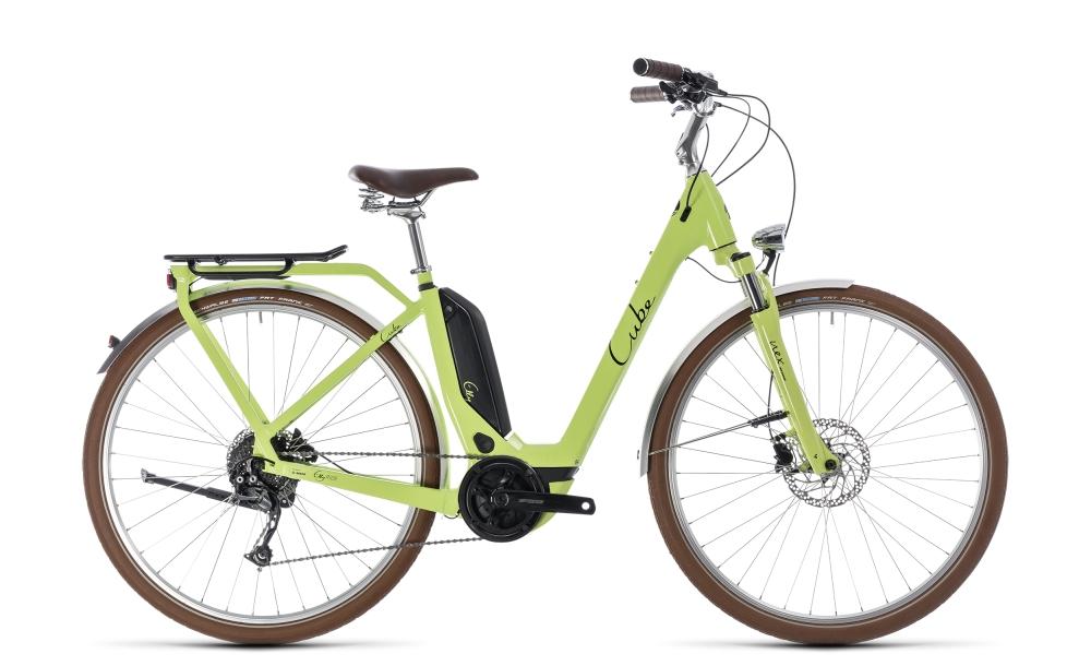 Cube Elly Ride Hybrid 400 green´n´black 2018 Größe: Easy Entry 46 cm - Bikesport Scheid - Ihr Fahrradfachgeschäft im Saarland