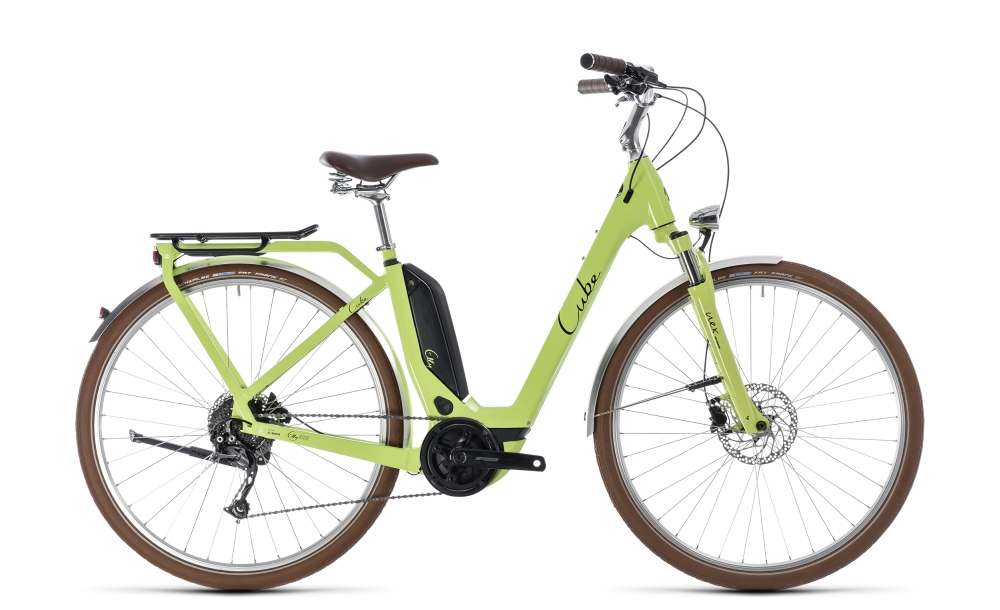 Cube Elly Ride Hybrid 500 green´n´black 2018 Größe: Easy Entry 46 cm - Bikesport Scheid - Ihr Fahrradfachgeschäft im Saarland