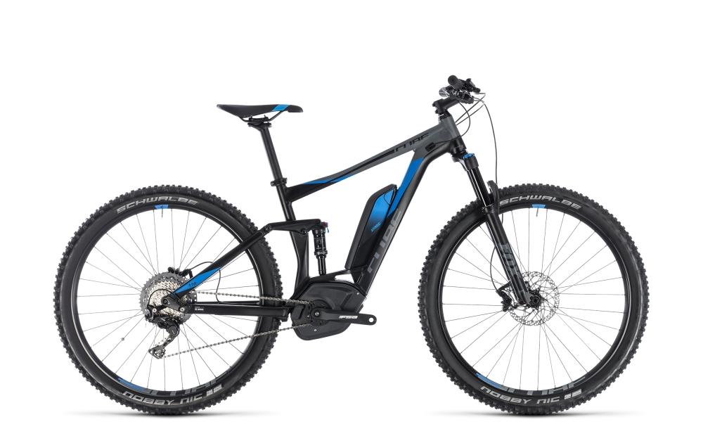 Cube Stereo Hybrid 120 EXC 500 black´n´blue 2018 Größe: 16´´ - Bikesport Scheid - Ihr Fahrradfachgeschäft im Saarland