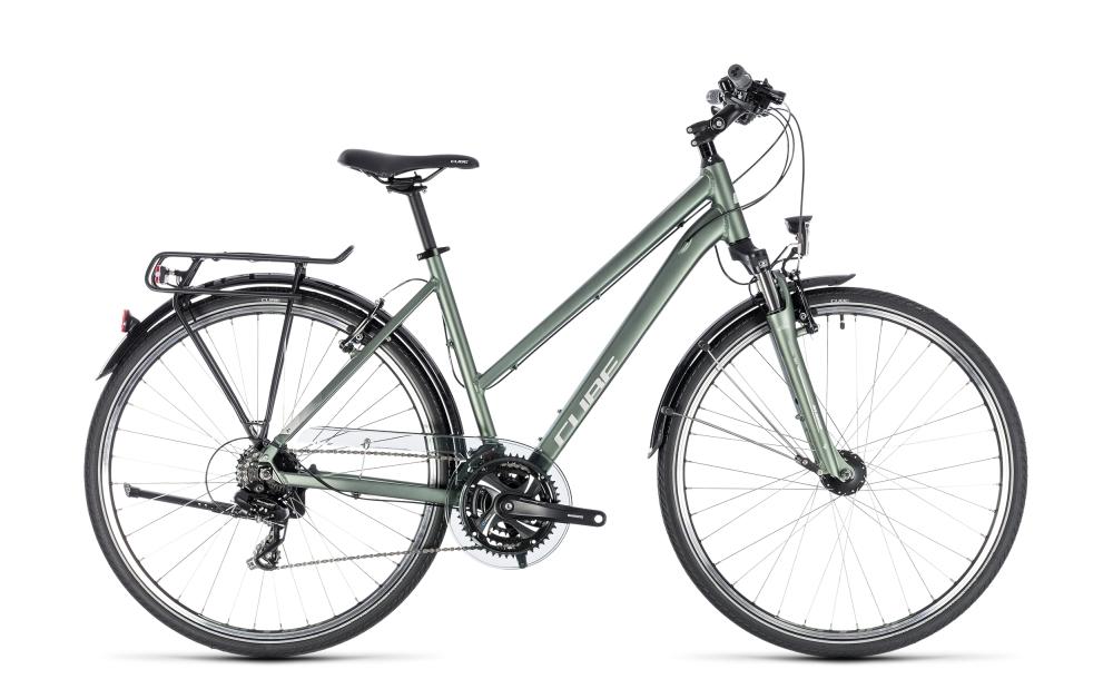 Cube Touring green´n´silver 2018 Größe: Trapeze 50 cm - Bikesport Scheid - Ihr Fahrradfachgeschäft im Saarland
