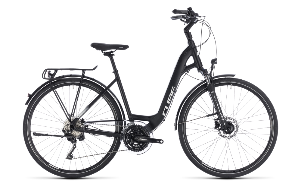 Cube Touring SL black´n´white 2018 Größe: Easy Entry 45 cm - Bergmann Bike & Outdoor