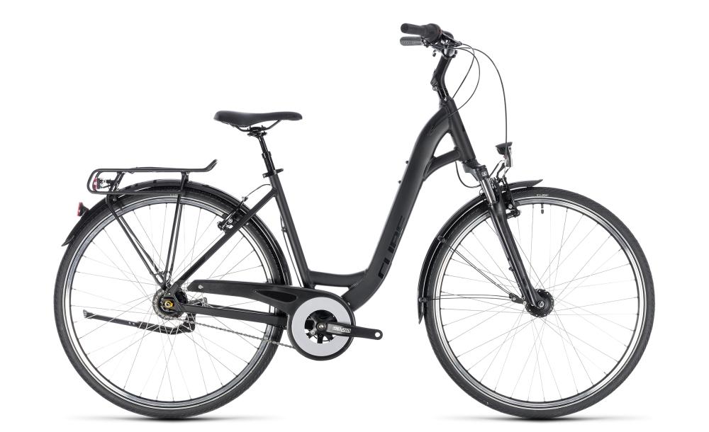 Cube Town Pro black´n´black 2018 Größe: Easy Entry 45 cm - Bikesport Scheid - Ihr Fahrradfachgeschäft im Saarland