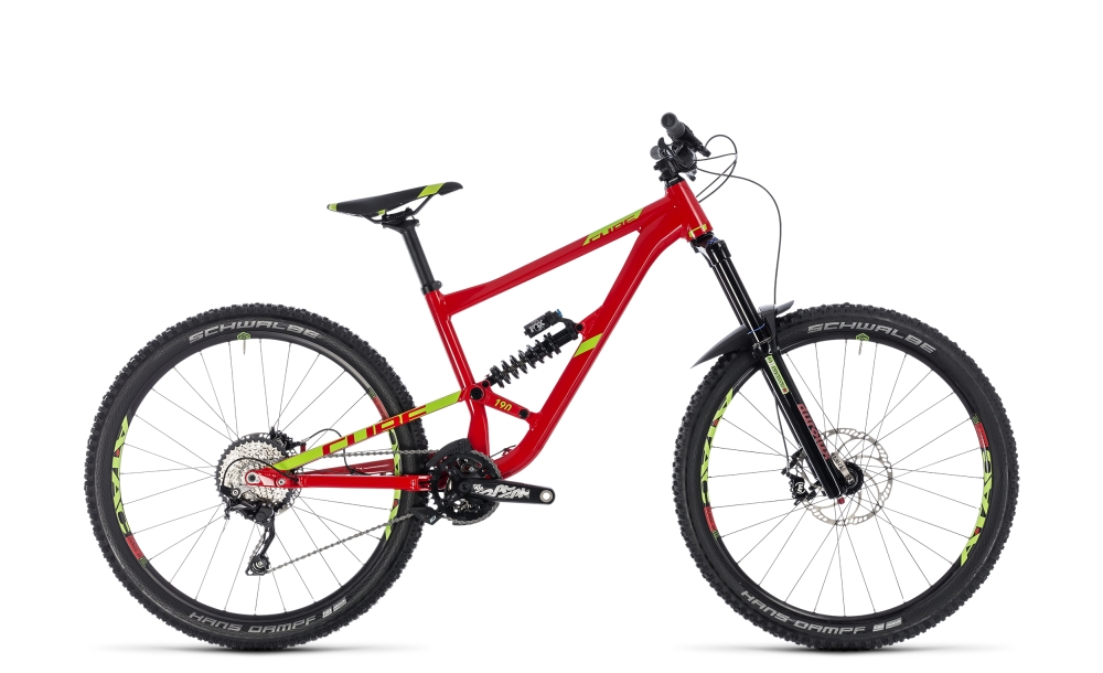 Cube Hanzz 190 Race 27.5 red´n´lime 2018 Größe: 16´´ - Bergmann Bike & Outdoor