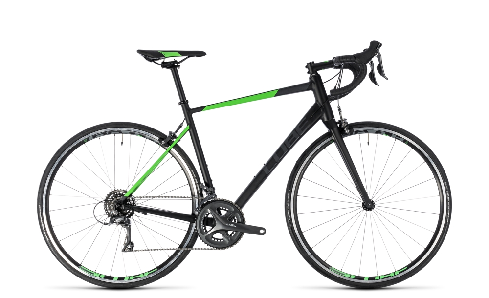 Cube Attain black´n´flashgreen 2018 Größe: 58 cm - Bergmann Bike & Outdoor