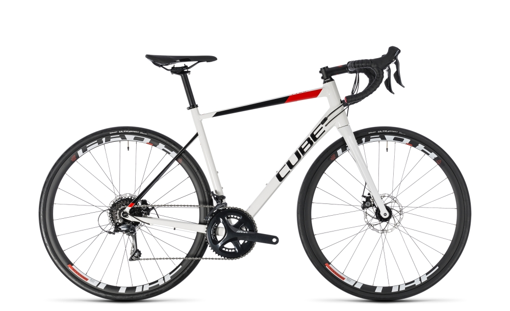 Cube Attain Pro Disc white´n´red 2018 Größe: 47 cm - Bergmann Bike & Outdoor