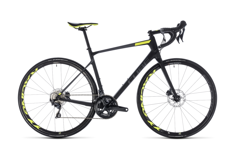 Cube Attain GTC SLT Disc carbon´n´flashyellow 2018 Größe: 60 cm - Bergmann Bike & Outdoor