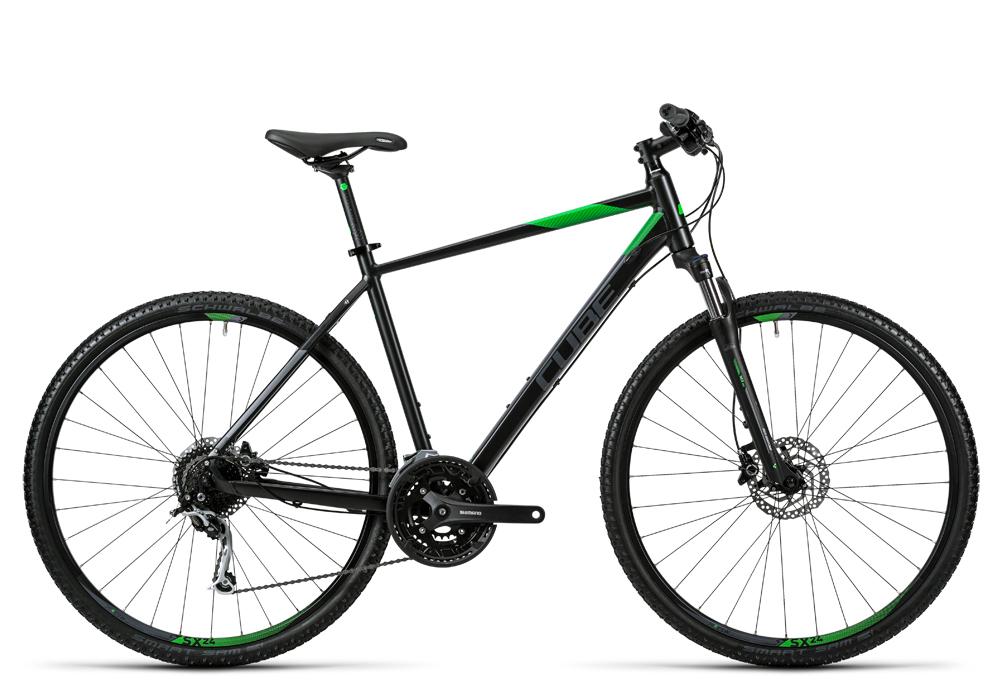 Cube Nature black flashgreen grey 2016 Größe: 62 cm - Cube Bikes » Fahrrad kaufen im Cube Bike Store Fahrrad Shop