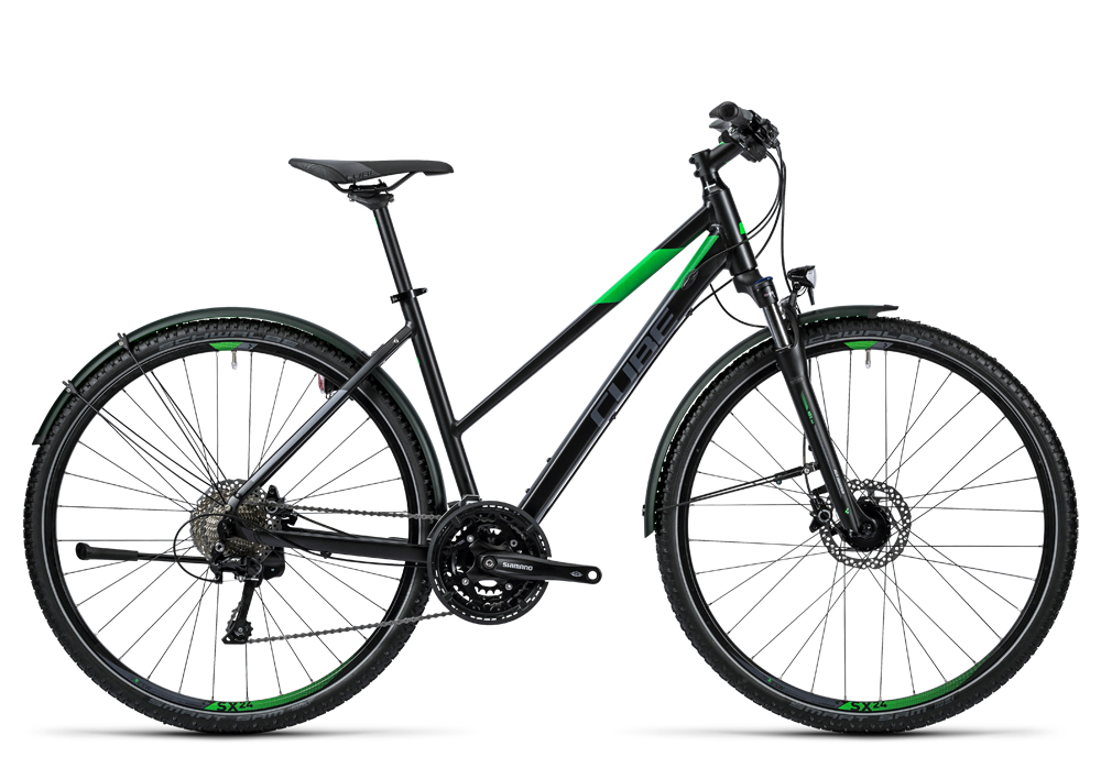 Cube Nature Allroad black flashgreen grey 2016 Größe: Trapeze 54 cm - Cube Nature Allroad black flashgreen grey 2016 Größe: Trapeze 54 cm