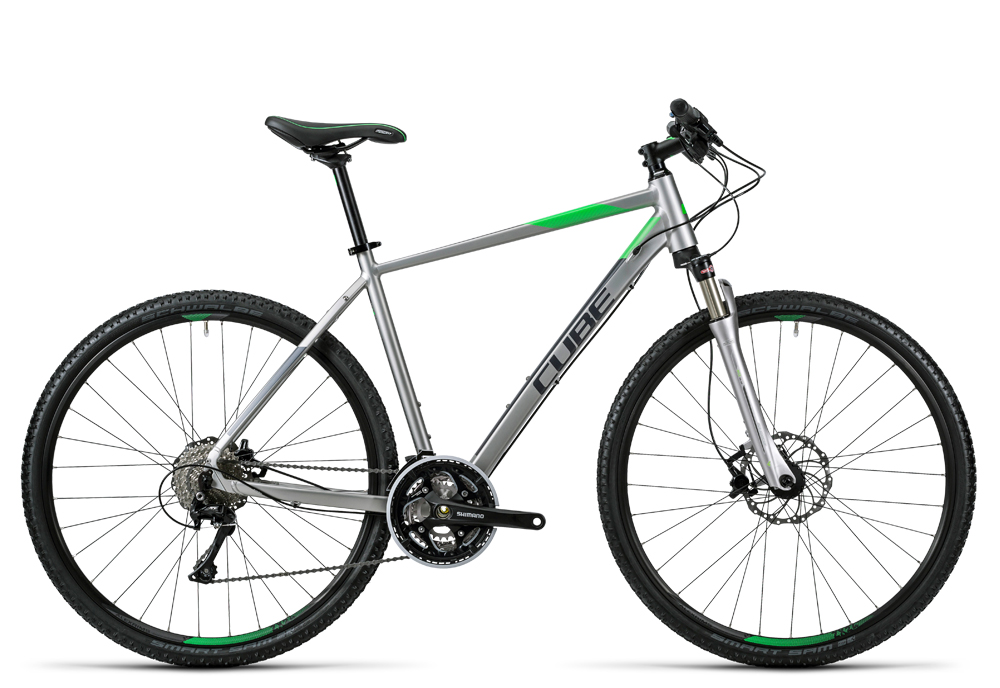 Cube Cross Pro silver grey green 2016 Größe: 58 cm - Cube Cross Pro silver grey green 2016 Größe: 58 cm