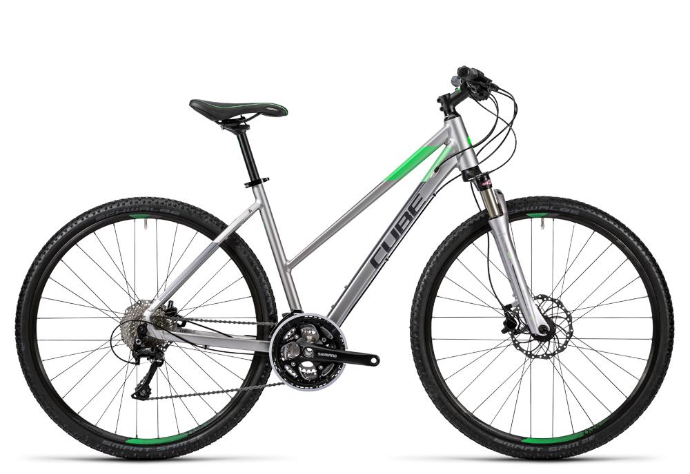 Cube Cross Pro silver grey green 2016 Größe: Trapeze 54 cm - Cube Bikes » Fahrrad kaufen im Cube Bike Store Fahrrad Shop