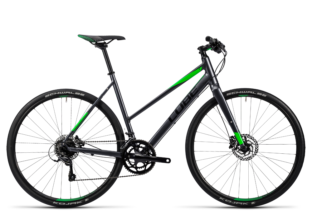 Cube SL Road Pro grey black flashgreen 2016 Größe: Trapeze 52 cm - Cube SL Road Pro grey black flashgreen 2016 Größe: Trapeze 52 cm
