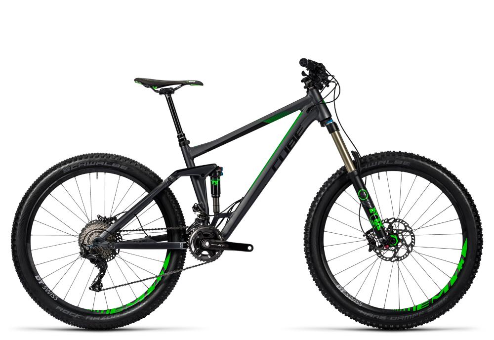 Cube Stereo 160 HPA SL 27.5 iridium´n´green 2016 Größe: 18´´ - Cube Bikes » Fahrrad kaufen im Cube Bike Store Fahrrad Shop