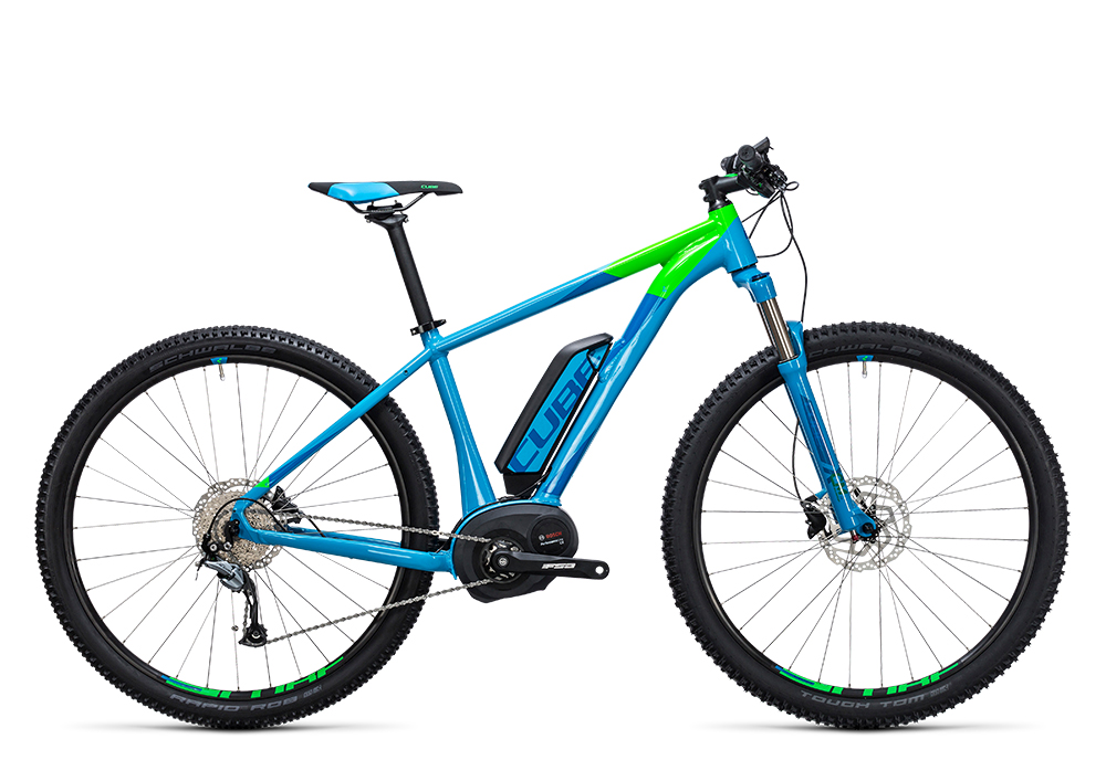 Cube Reaction Hybrid ONE 400 blue´n´flashgreen 2017 Größe: 14´´ - Bergmann Bike & Outdoor